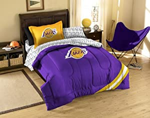 Amazon.com: Los Angeles Lakers NBA Twin Comforter, Sheets