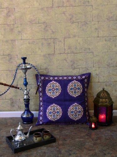 Sultans Palace ~ Purple Blue Moroccan Vintage Euro Pillow Sham 26X26 front-276094