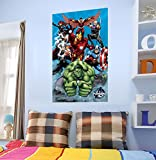 WOW INTERIORS DISNEY (OFFICIALLY LICENSED)-MARVEL ASSEMBLED AVENGERS IN ACTION KIDS WALL STICKER