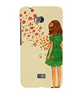 EPICCASE Windy Girl Mobile Back Case Cover For Micromax Q336 (Designer Case)