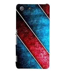 Modern Design of Horizonal Stripes 3D Hard Polycarbonate Designer Back Case Cover for Sony Xperia M5 Dual :: Sony Xperia M5 E5633 E5643 E5663