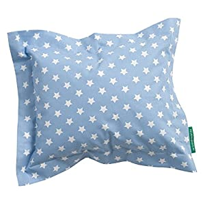 Nestbauglück Pillow, Stars light blue