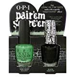 51vJM8kCUWL. SL160  opi halloween 2011 pairem scareem **black shatter AND zoom body to love(glows in the dark)**