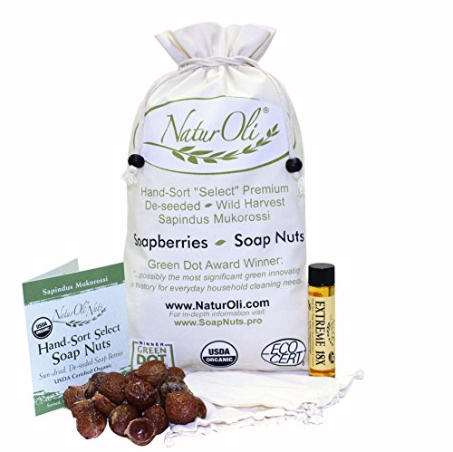 Naturoli Soap Nuts / Soap Berries. 2-Lbs Usda Organic + 18X Bonus! Select Seedless, 2 Wash Bags, Tote Bag, 8-Pgs Info. Organic Laundry Soap / Natural Cleaner. Processed In Usa!