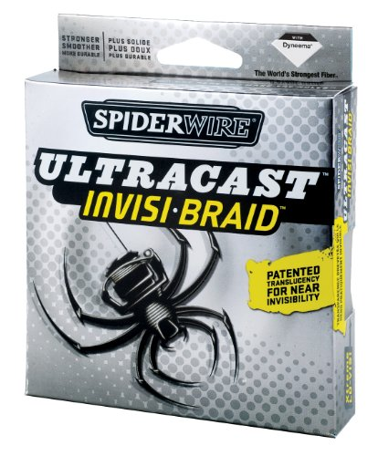 Spiderwire Ultracast Invisi-Braid 300-Yard Spool, Pound/Diameter 50/12
