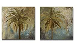 Spring Palm I & II by Patricia Pinto 2-pc Premium Stretched Canvas Art Set (Ready to Hang)
