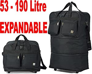 Double Expandable Extra Large Wheeled Holdall 3 In 1 Luggage Travel Suitcase Bag