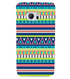 Triangle Pattern Wallpaper 3D Hard Polycarbonate Designer Back Case Cover for HTC One M10 :: HTC M10