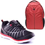 Combo Pack Of Escan Men's Sport Shoes & Backpack (ES71205-2)