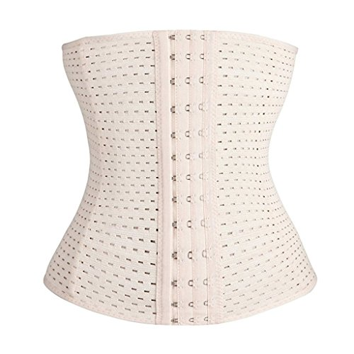 Shaper Waist Trainer Corset Vest Waist Full Cincher Tummy(Nude(Steel Boned),XXL( (Full Corset compare prices)