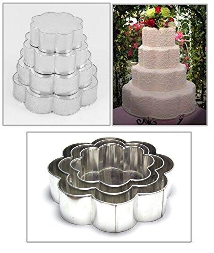 EURO TINS teglia per torta nuziale 4 strati Cuore - set da 4 - 15cm ...