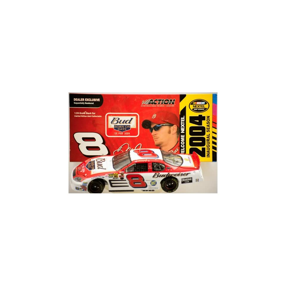 Action   NASCAR   Dale Earnhardt Jr #8   2004 Chevy Monte Carlo   Budweiser / NEXTEL Paint   Nextel Inaugural Season   124 Scale   Die Cast   Limited Edition   Collectible