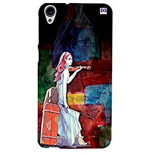 Graphic Girl - Mobile Back Case Cover For HTC Desire 820