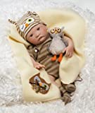 Paradise Galleries Hoot! Hoot! Baby Doll that Looks like a Real Baby, 16 inch vinyl