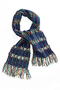 Tey-Art Square Weave Alpaca Boucle Fair Trade Scarf (Iris)