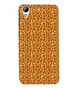 PrintVisa HTCD626-Corporate Print & Pattern Animal Print Back Cover (Multicolor)