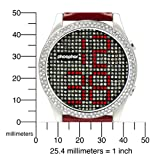 Phosphor Women's MD002L Appear Collection Fashion Crystal Mechanical Digital Watch