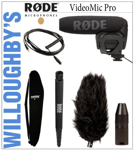 Rode Videomic Pro + Rode Deadcat Vmp Shield + Rode Boompole + Rode Boompole Bag + Rode Vxlr Xlr Adaptor + Rode Vc1