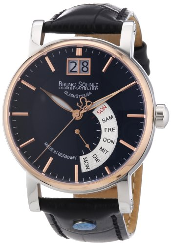 Bruno Söhnle Herren-Armbanduhr XL Pesaro I Analog Quarz Leder 17-63073-745