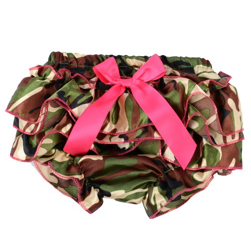 Andi Rose Baby Girls Ruffle Panties Briefs Bloomer Diaper Cover (Camo)
