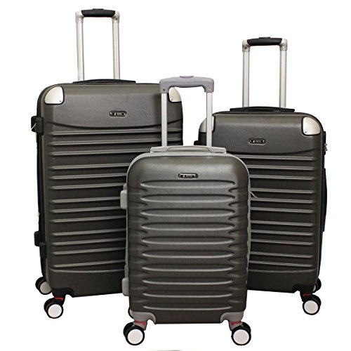 All-Seasons Zota Shield 3-Piece Spinner Upright Hardside Luggage Set With Combination Lock - Dark Grey