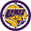Northern Iowa Panthers Suntime 12&quot; Dimension Glass Crystal Wall Clock - NCAA College Athletics