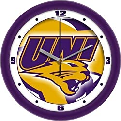 "Northern Iowa Panthers Suntime 12"" Dimension Glass Crystal Wall Clock - NCAA College Athletics"