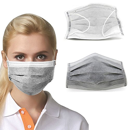 Nice-purchaseTM-Four-Layer-Disposable-Charcoal-Activated-Carbon-Mask-Filter-Antivirus-Bacteria-100-Pieces-Each-Piece-Is-Individually-Packed