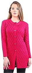 Montrex Women's Plain Coats (Montrex-6407Pink, Pink, L)