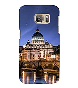 Fuson Premium Back Case Cover Mahal With yellow Background Degined For Samsung Galaxy S7::Samsung Galaxy S7