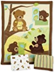 Honey Bear 3 Piece Bedding Set