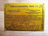 Getreidemühle WIDU Universalmühle Mod. III aus Holz -