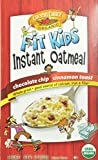 Country Choice Organic Fit Kids Instant Oatmeal (Chocolate Chip, Cinnamon Toast) Variety Pack, 8 Count Servings (Pack of 6)