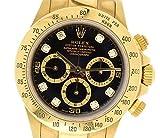 [ロレックス] ROLEX デイトナ 8Pダイヤ ブラック文字盤 A番 K18YG 750YG イエローゴールド メンズ AT オートマ 腕時計 16528G [中古]