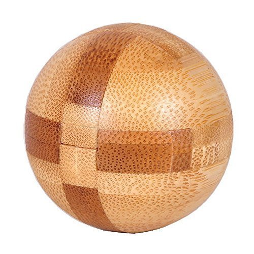 KINGOU Bamboo Ball lock Logic Puzzle Burr Puzzles Brain Teaser Intellectual Removing Assembling Toy
