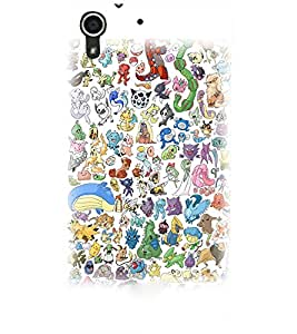 PrintDhaba Cartoon D-3827 Back Case Cover for HTC DESIRE 728 (Multi-Coloured)