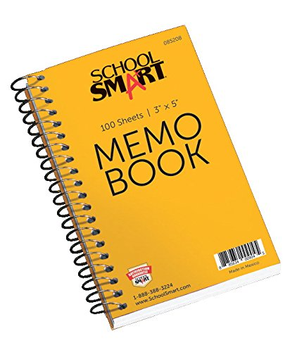 School Smart Memo Notebook - 3 x 5 - Side Opening - Coil Bound - 100 Sheets (Coil Bound compare prices)