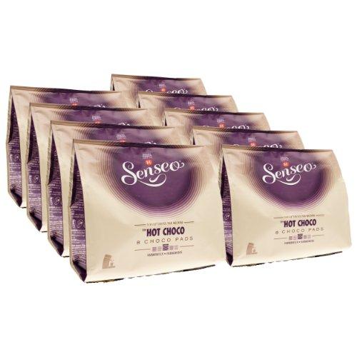 Senseo Kakaopads Hot Choco, heiße Schokolade, neues Design, 9er Pack, 9 x 8 Kakao Pads