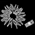 50pcs Sewing Craft Quilt Binding Plastic Clips Clamps Clear