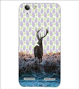 PrintDhaba Deer D-3428 Back Case Cover for LENOVO LEMON 3 (Multi-Coloured)