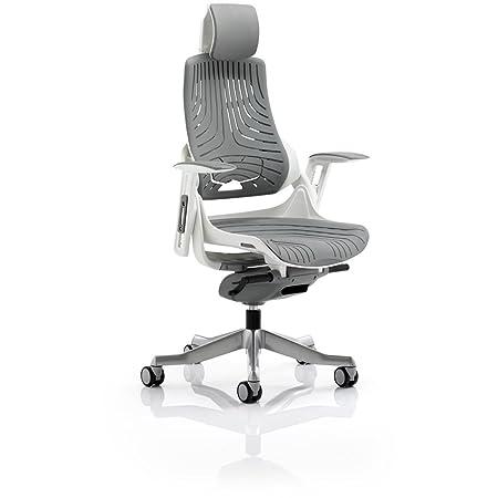 """Dinámico kc0164zure Ejecutivo silla """"(Gel de elastómero con reposabrazos y reposacabezas, color gris"""