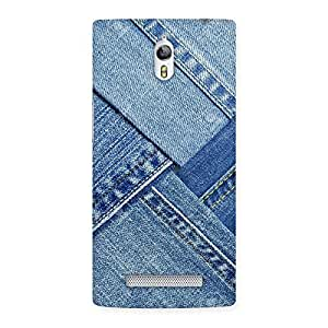 Cute Denim Texture Print Back Case Cover for Oppo Find 7