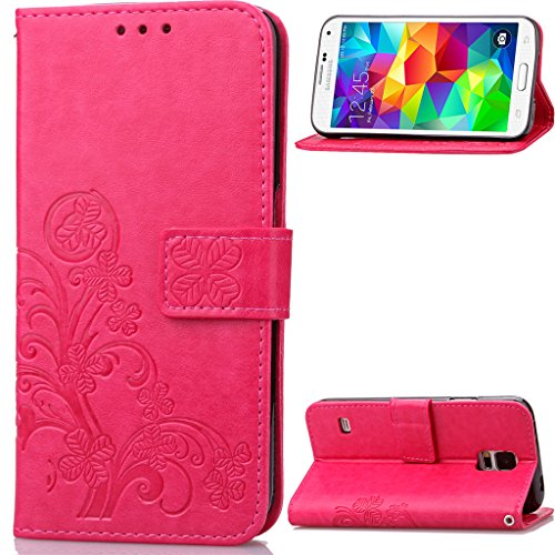 Samsung-Galaxy-S52014G900S5-Neo-I9600-Hlle-Leder-PU-Leder-Hlle-Flip-Hlle-Case-Bookstyle-Cover-Schale-Stand-Stnder-Etui-Karten-Slot-Schutzhlle-Tasche-Wallet-Case-Leder-Wallet-Tasche-Brieftasche-Schutzh