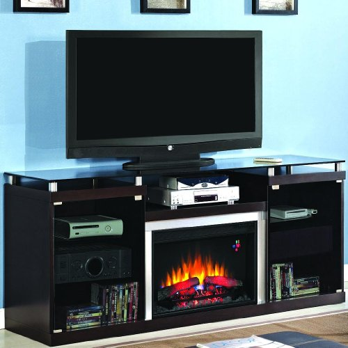 Albright 72-inch Electric Fireplace Media Console - Espresso - 26mm9404 image B00982FEG6.jpg