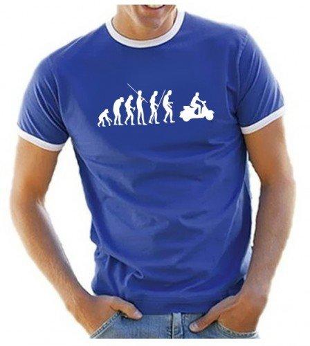coole-fun-t-shirts-t-shirt-scooter-evolution-vespa-roller-scooterist-ringer-blau-xxl-10623-blau-ring
