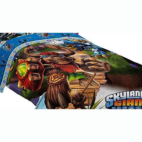 4pc Skylanders Giants Full Bed Comforter Set Energy Conquers Bedding