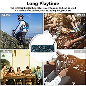 Bluetooth Speakers Portable Wireless,Loud Stereo Sound Bluetooth Speakers,Built-in-Mic,Portable Wireless Speaker for Home/Travel/Shower/Car/Outdoors