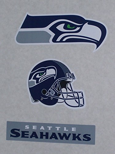 Seattle-Seahawks-Logo-Mini-FATHEAD-Set-of-3-Official-NFL-Vinyl-Wall-Graphics-5-inch