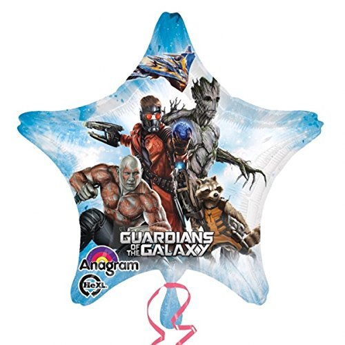"1 XL party BALLOON new GUARDIANS of the GALAXY 28"" star-shape BIRTHDAY favors DECOR new"