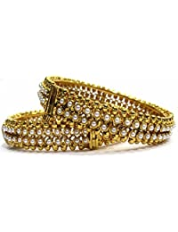 Shingar Jewellery Ksvk Jewels Antique Gold Plated Bangles Set For Women (5941-m-P)